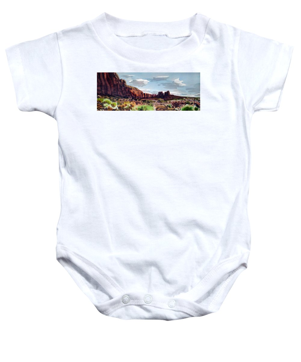Horses Baby Onesie featuring the painting Two Mustangs by Donald Maier