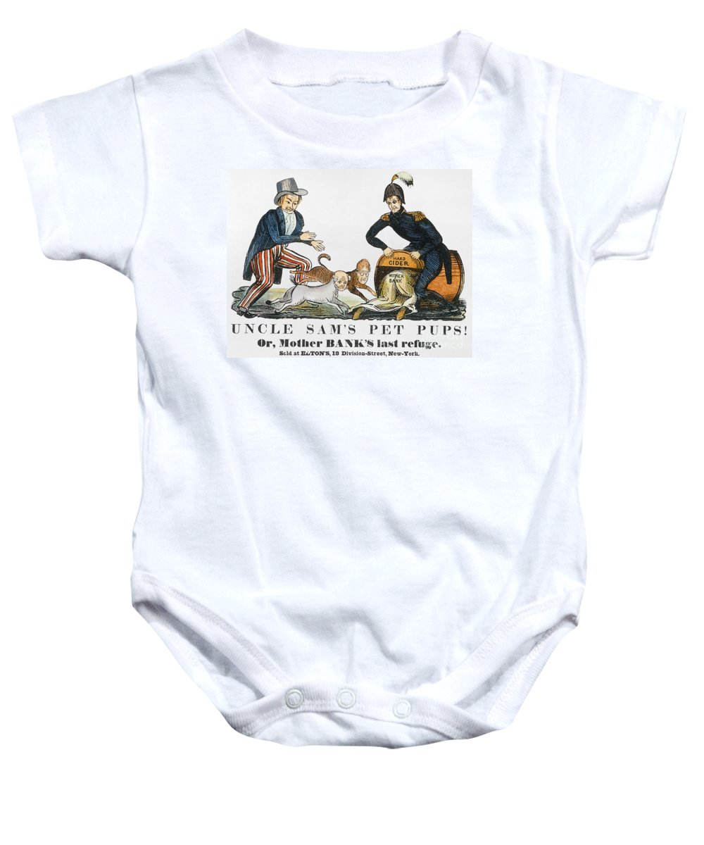 1840 Baby Onesie featuring the photograph Uncle Sam: Cartoon, 1840 by Granger