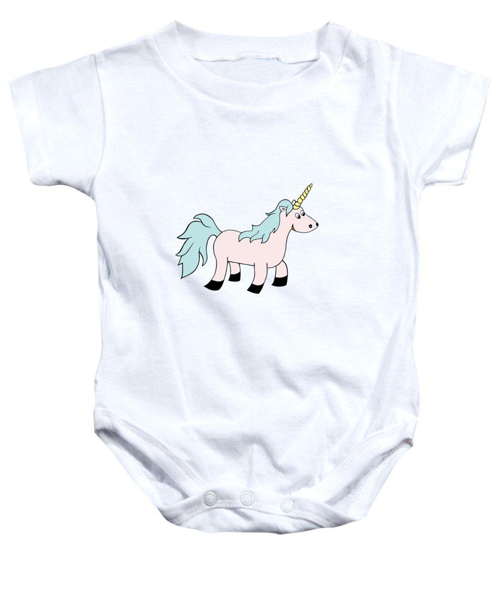 Baby Onesie featuring the digital art Unicorn Spirit Animal by Alyssa Phillips