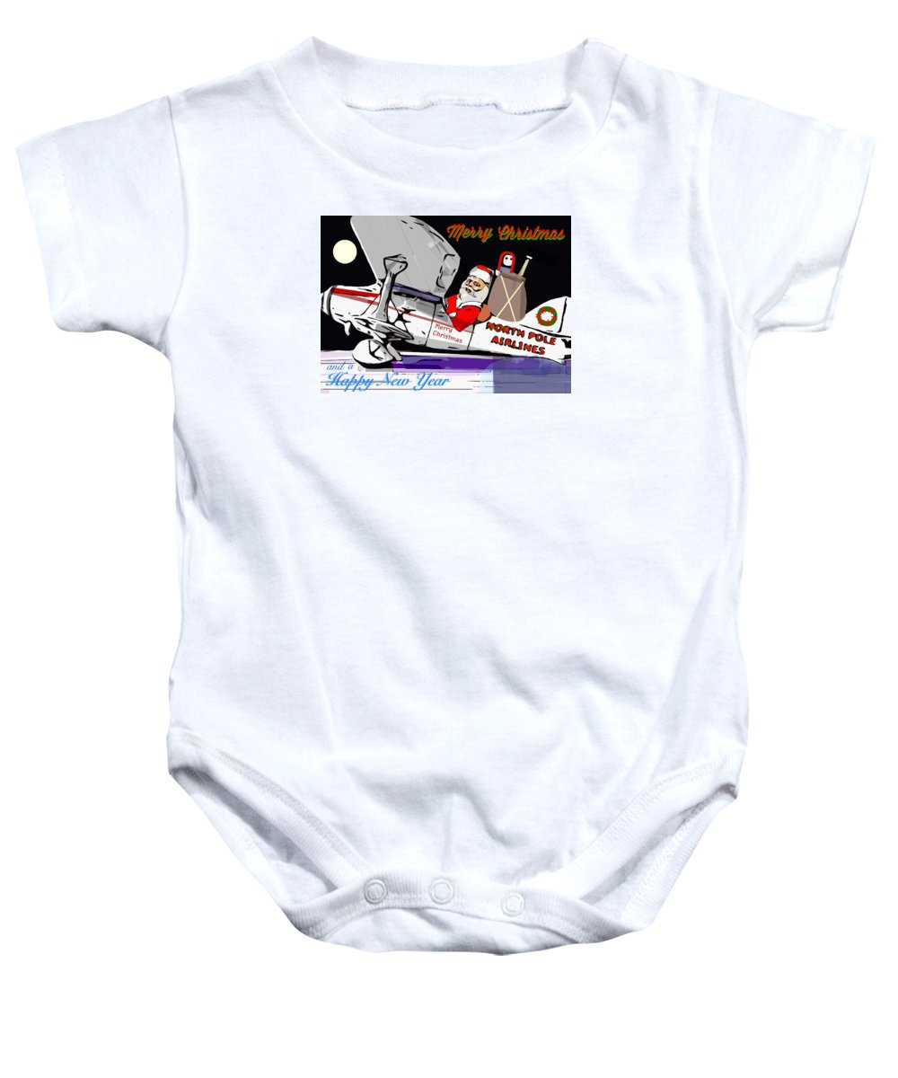 Art Baby Onesie featuring the painting Unique Greets Original Holiday Greeting Card by Larry Lamb