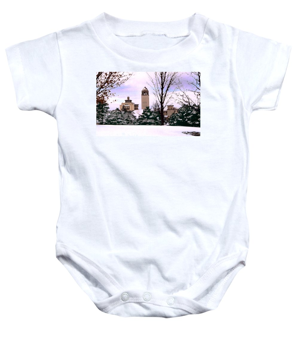 Landscape Baby Onesie featuring the photograph Unity Village by Steve Karol