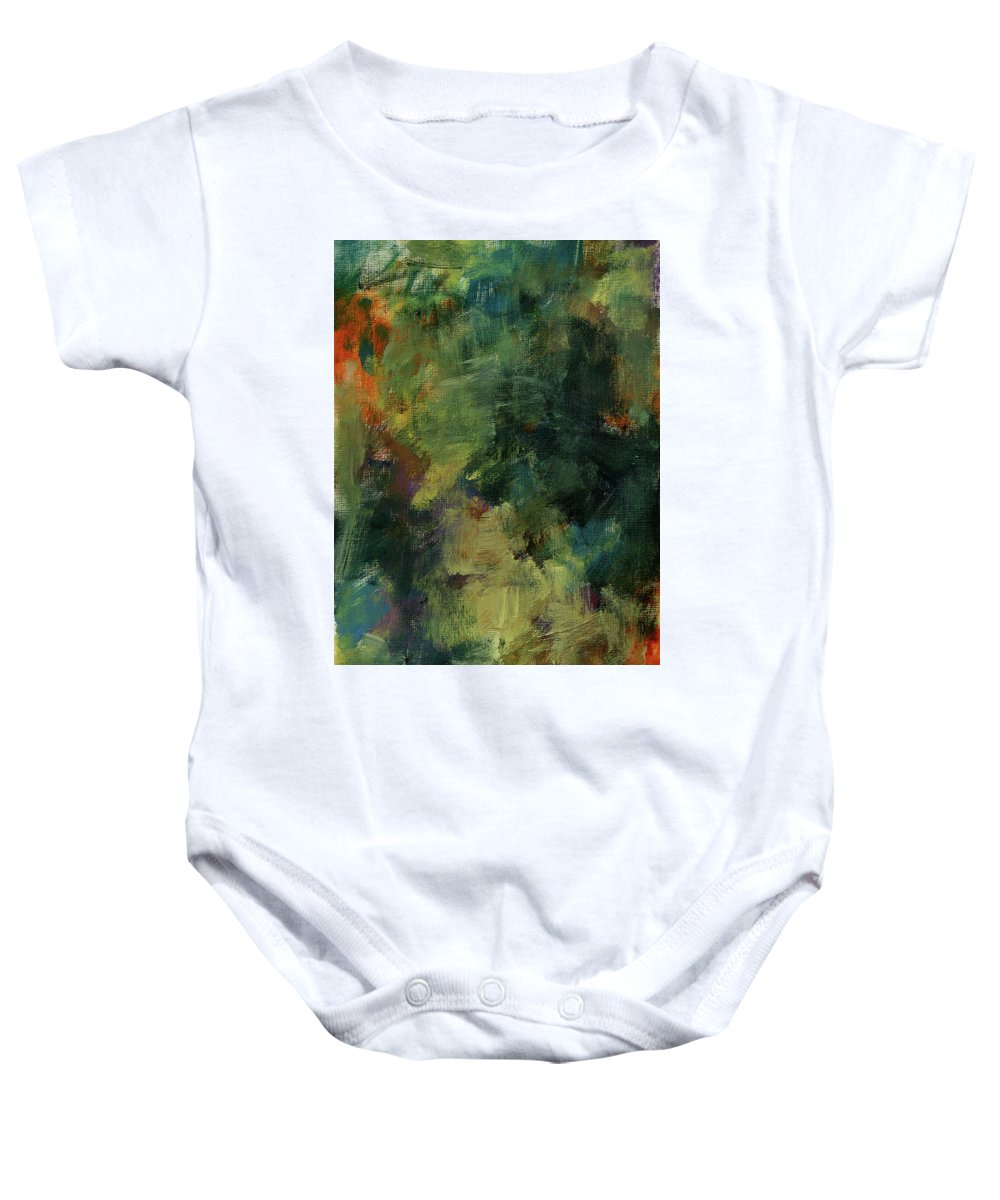 Nature Baby Onesie featuring the painting Untitle by Tala Afshin