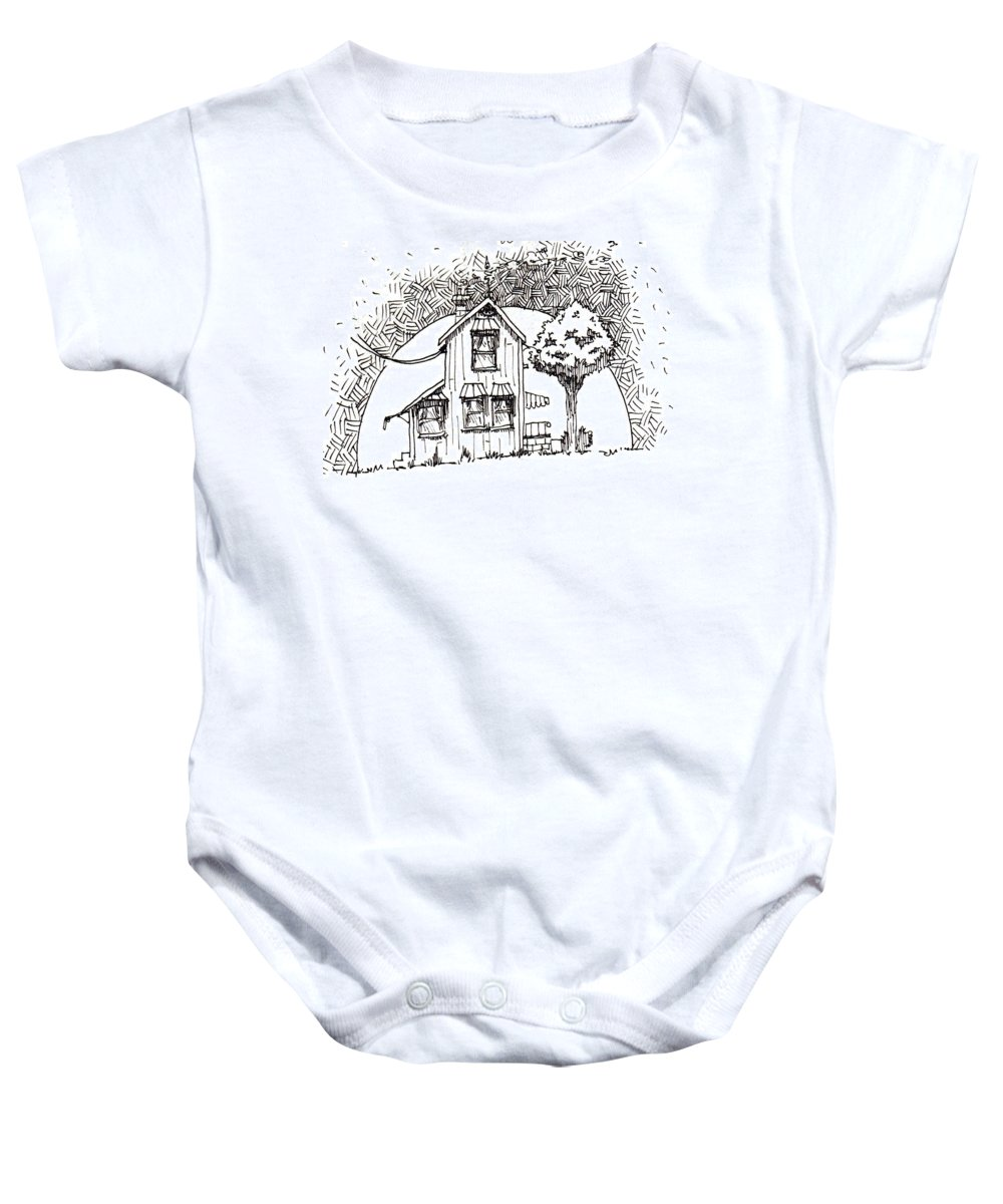 House Baby Onesie featuring the drawing Untitled by Tobey Anderson