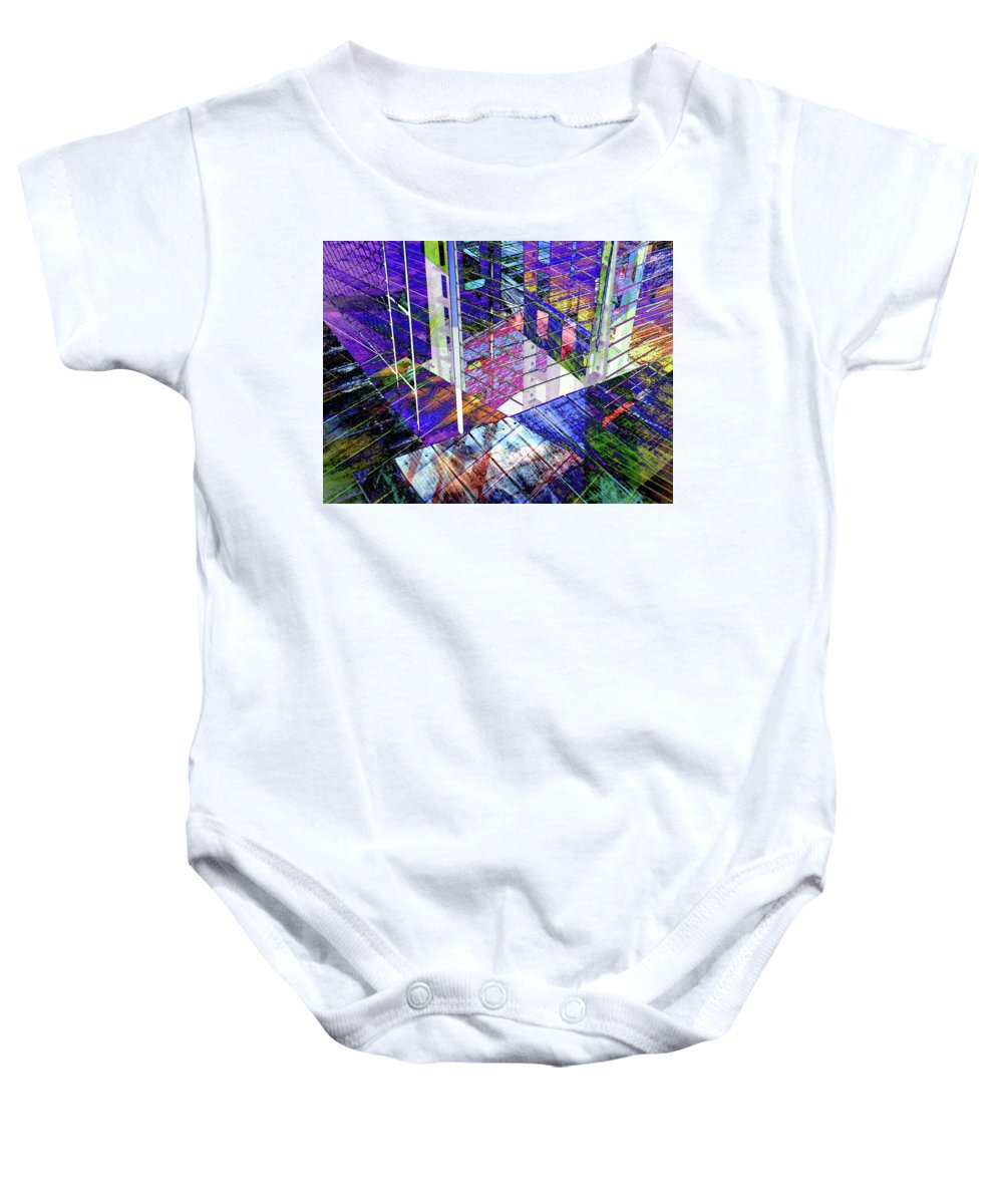 City Baby Onesie featuring the photograph Urban Abstract 476 by Don Zawadiwsky