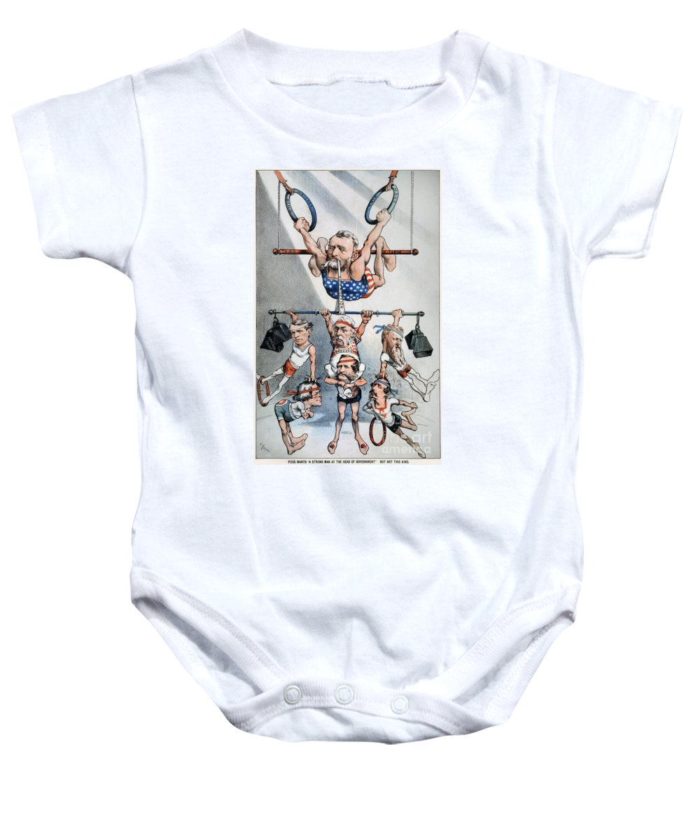 1880 Baby Onesie featuring the photograph U.s. Grant Cartoon, 1880 by Granger