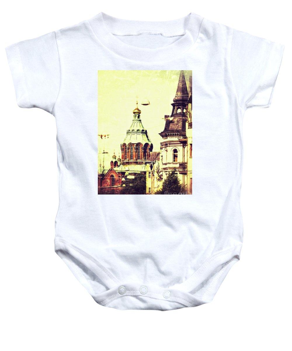 Uspenski Baby Onesie featuring the photograph Uspenski Cathedral by Lasse Ansaharju