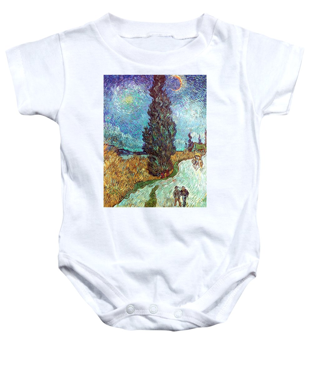 1890 Baby Onesie featuring the photograph Van Gogh: Road, 1890 by Granger