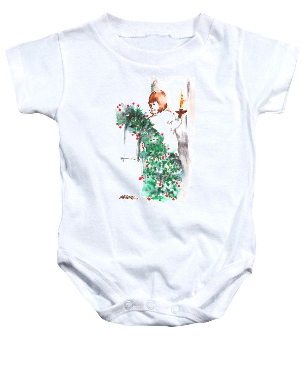 Vanessa Iii Baby Onesie featuring the painting Vanessa IIi by Seth Weaver