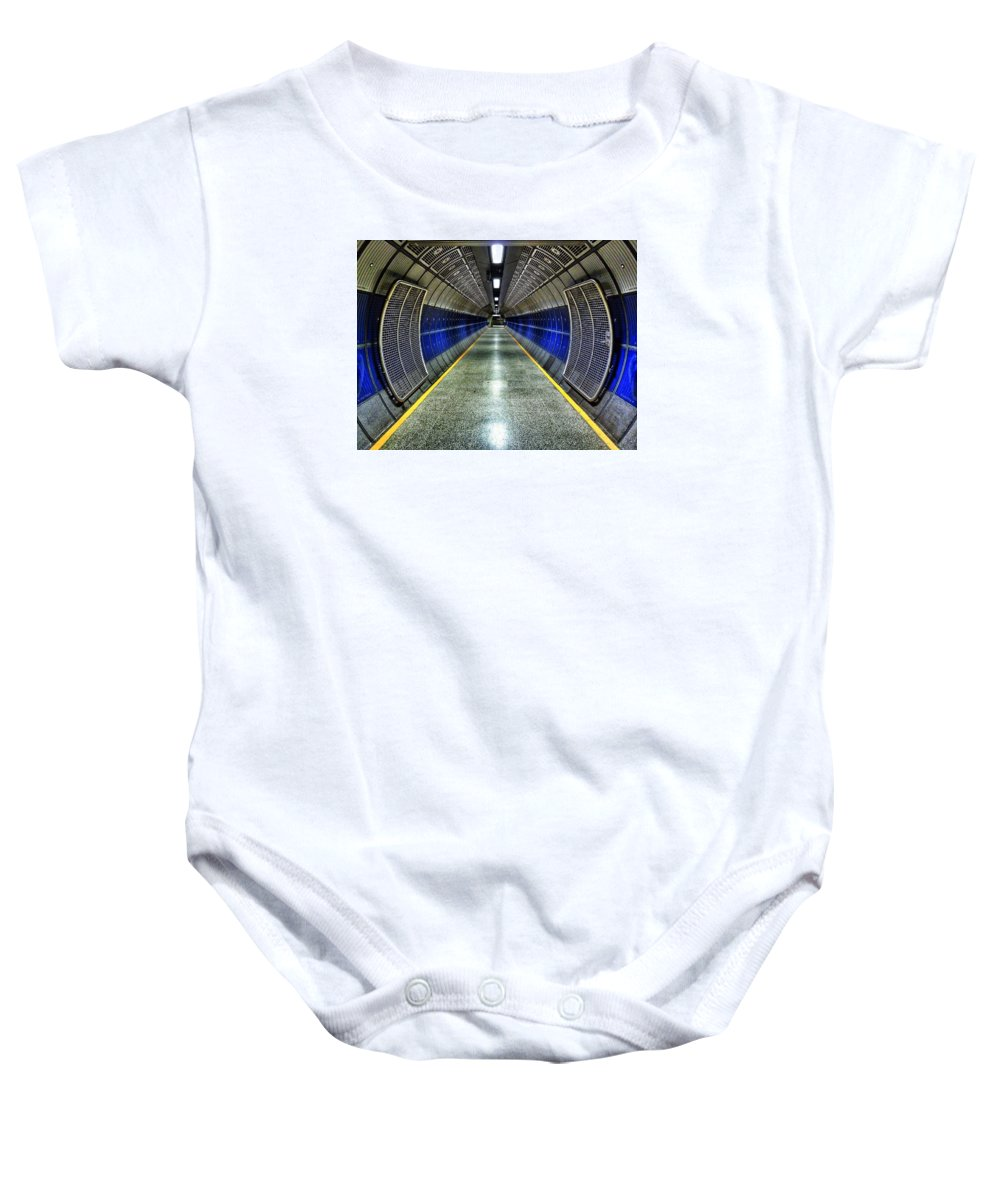 Uk Baby Onesie featuring the photograph Vanishing Point by Douglas Stratton