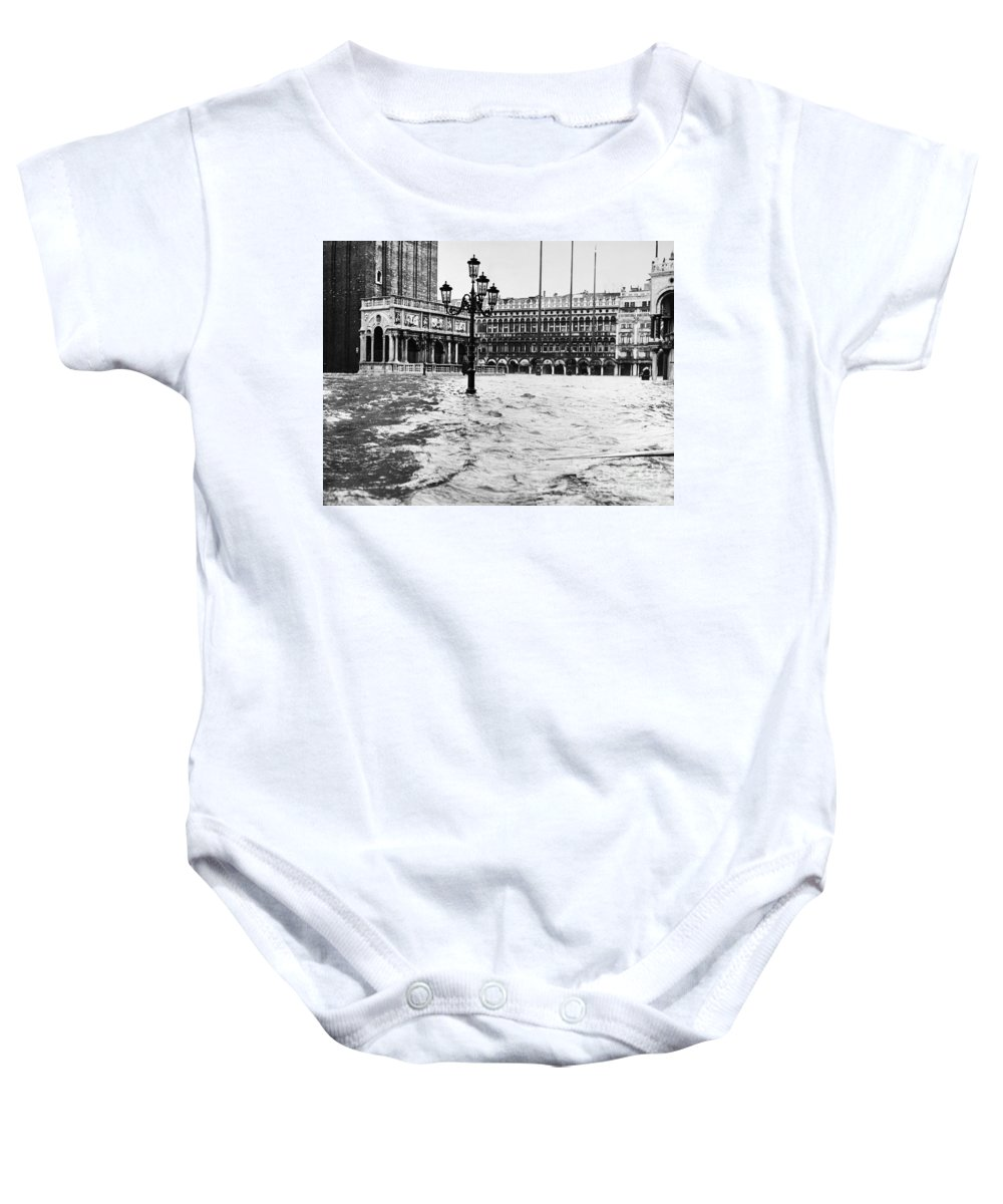 1966 Baby Onesie featuring the photograph Venice: Flood, 1966 by Granger