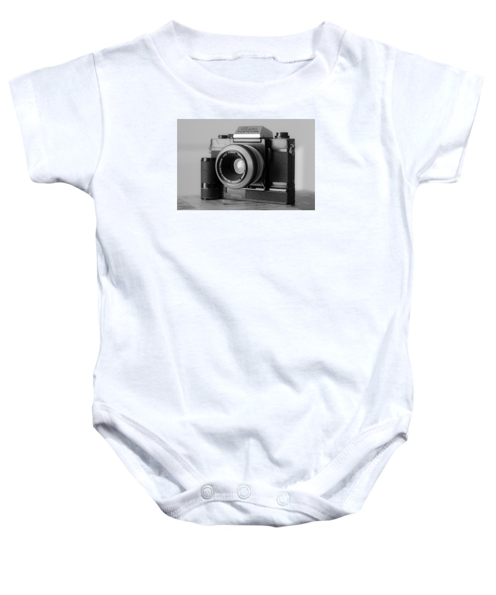 Vintage Camera Baby Onesie featuring the photograph Vintage Camera C20h by Otri Park