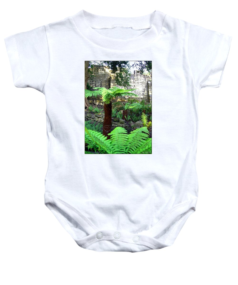 Botanical Baby Onesie featuring the photograph Walled Garden by Joan Minchak