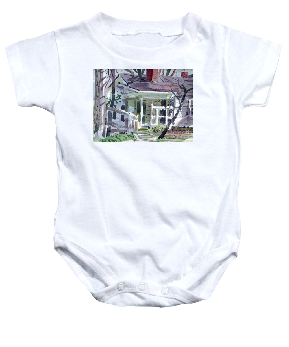Wallis House Baby Onesie featuring the painting Wallis House by Donald Maier