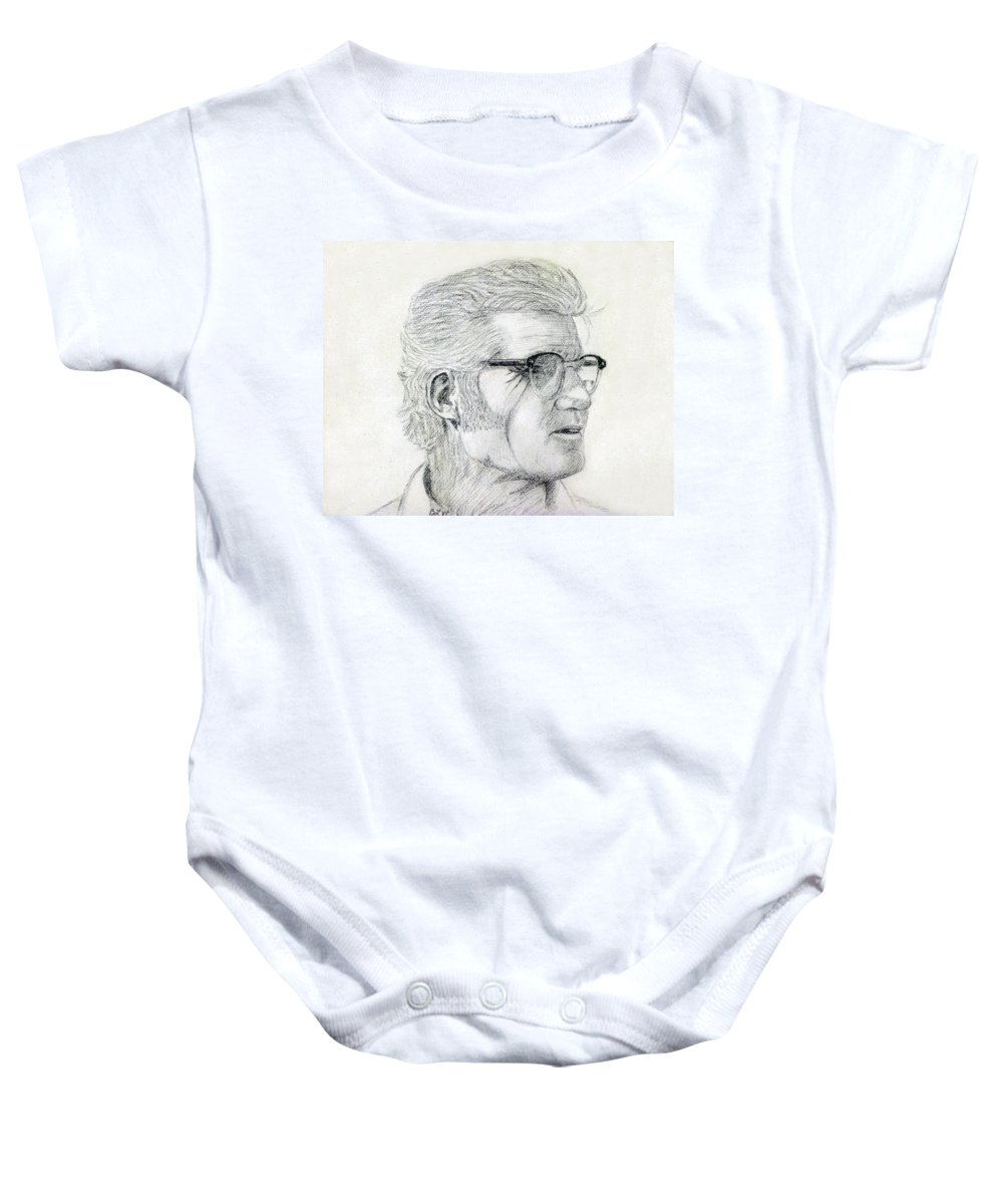 2d Baby Onesie featuring the drawing Ward by Brian Wallace