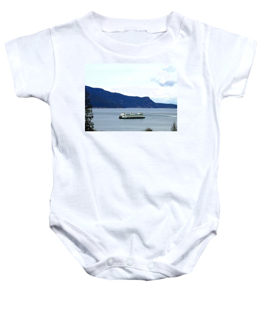 Washington State Ferry Baby Onesie featuring the photograph Washington State Ferry by Will Borden