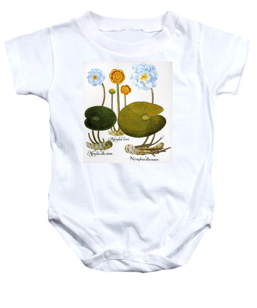 1613 Baby Onesie featuring the photograph Water Lily, 1613 by Granger