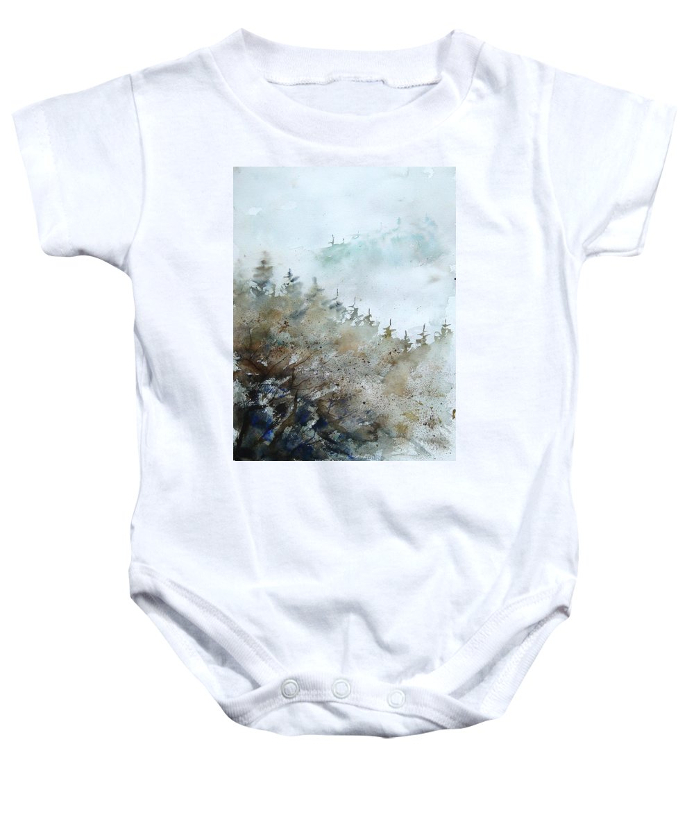 Tree Baby Onesie featuring the painting Watercolor 356214 by Pol Ledent
