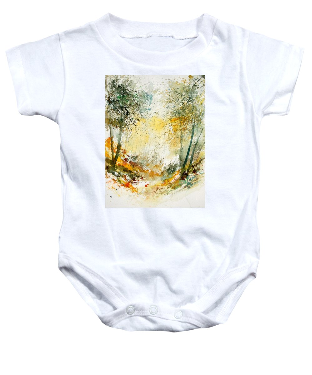 Tree Baby Onesie featuring the painting Watercolor 908021 by Pol Ledent