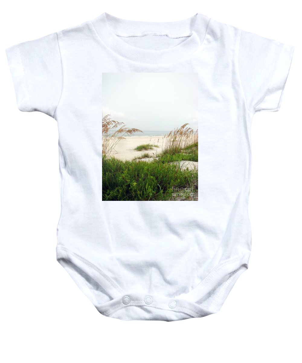 Beaches Baby Onesie featuring the photograph Welcome by Amanda Barcon