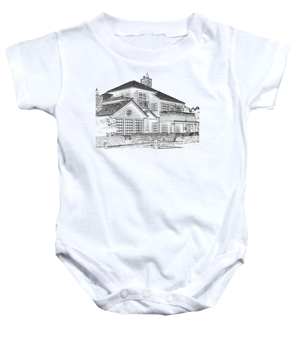 Welcome Home Baby Onesie featuring the digital art Welcome Home 1 by Will Borden