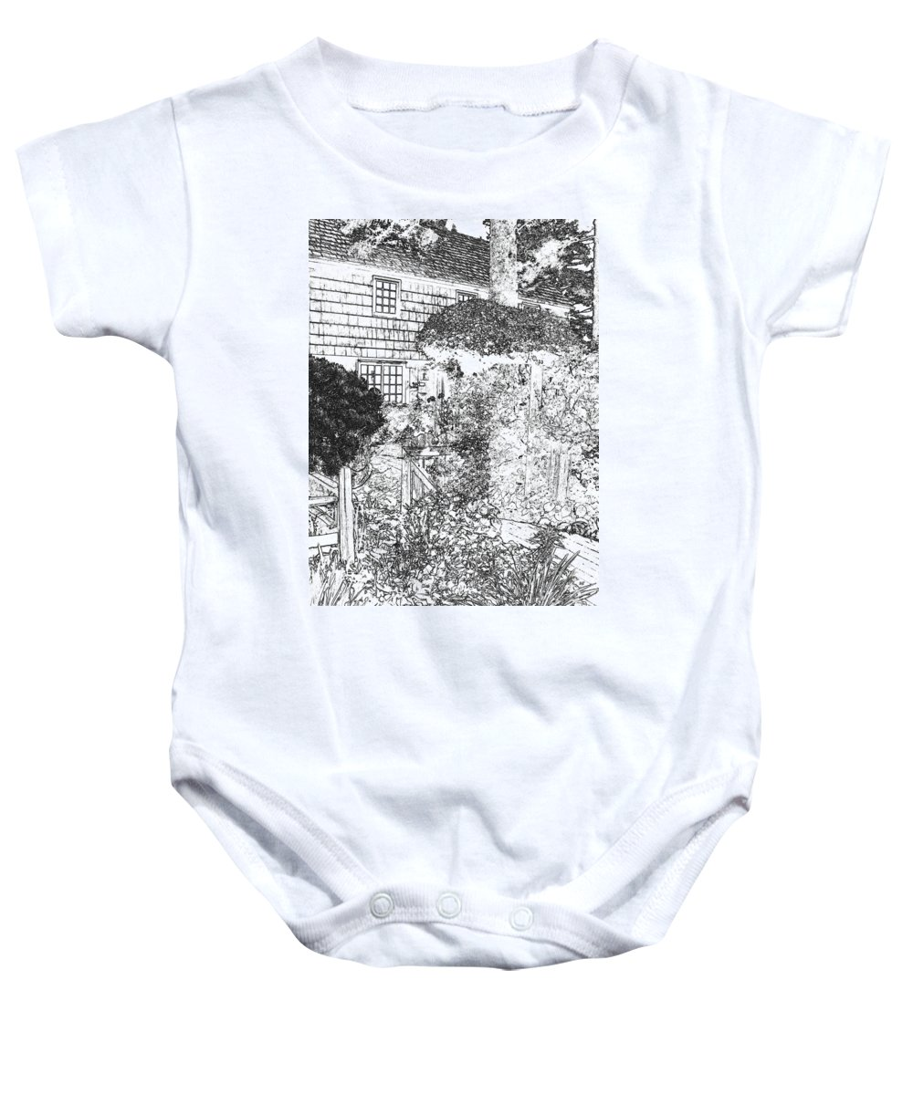 Welcome Home Baby Onesie featuring the digital art Welcome Home 2 by Will Borden