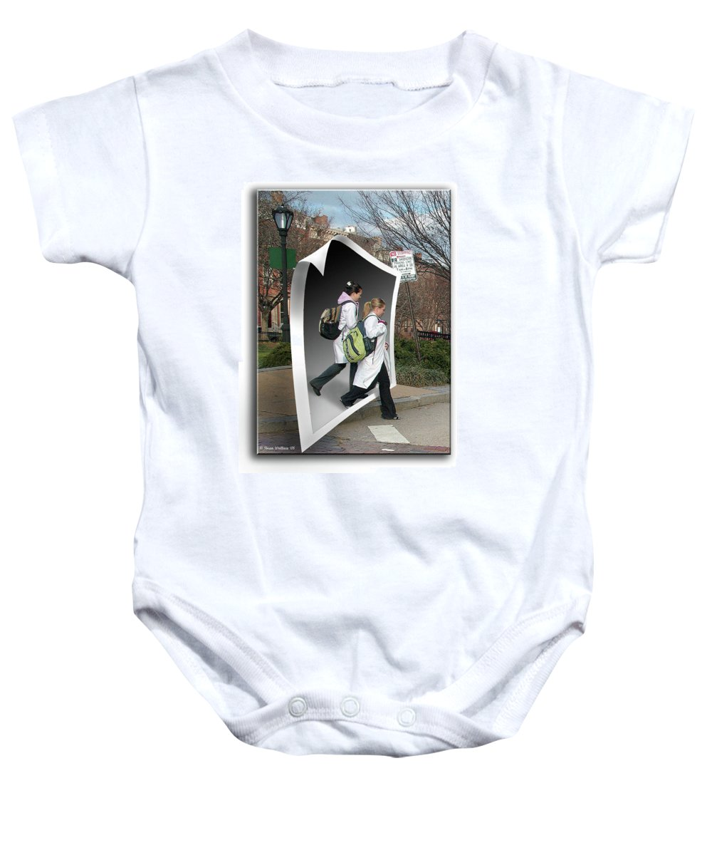 2d Baby Onesie featuring the photograph White Coats by Brian Wallace