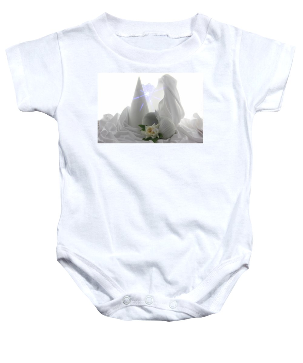Flowers Baby Onesie featuring the photograph White Dream by Manfred Lutzius