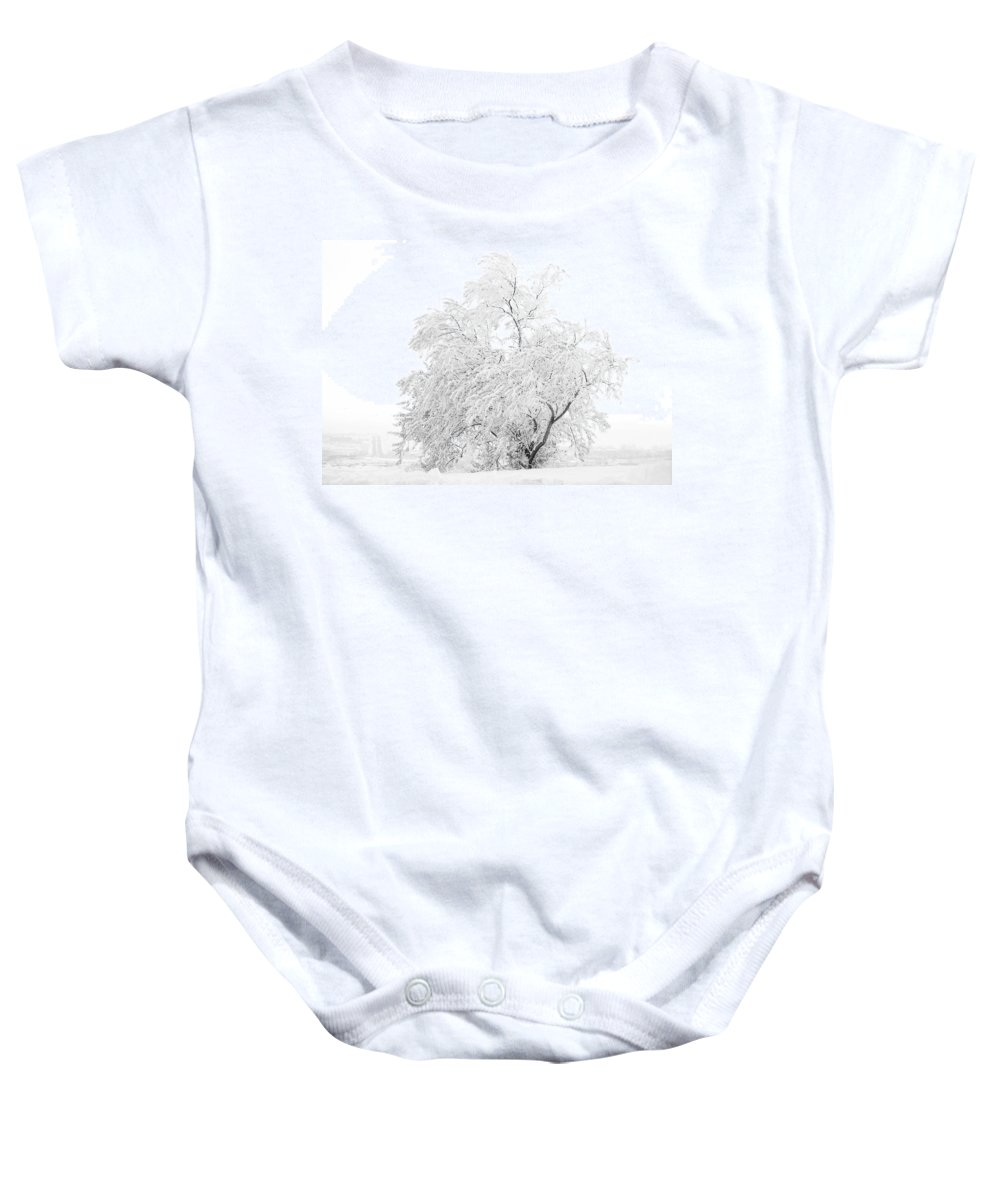 Snow Baby Onesie featuring the photograph White On White by Marilyn Hunt