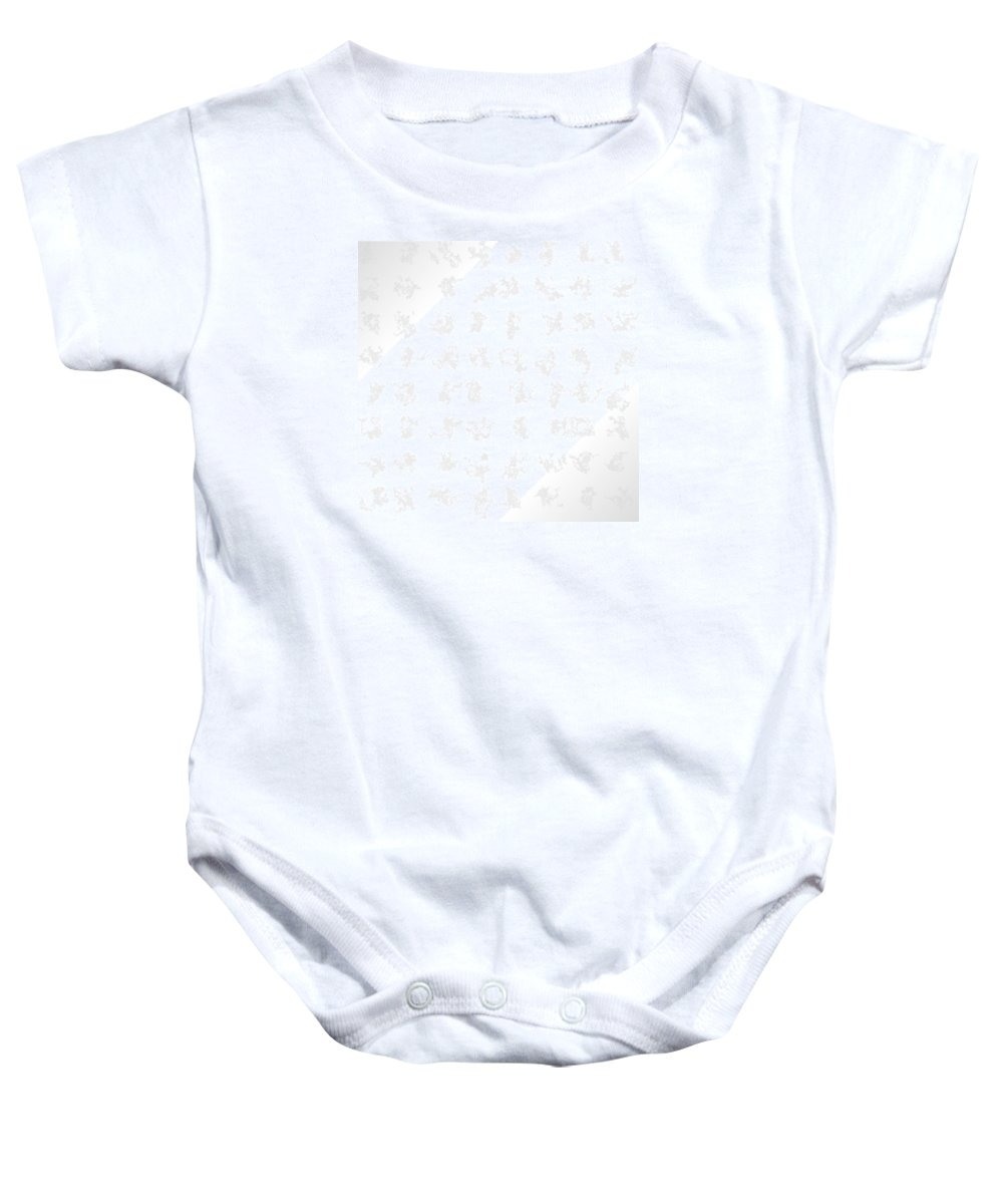 Abstract Baby Onesie featuring the digital art White.28 by Gareth Lewis