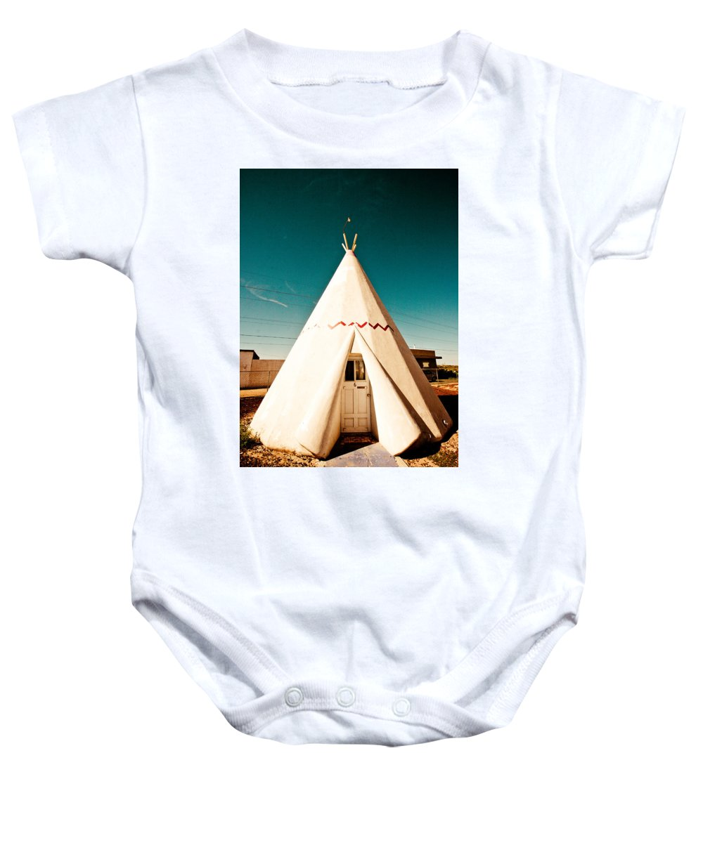 66 Baby Onesie featuring the photograph Wigwam Room #3 by Robert J Caputo