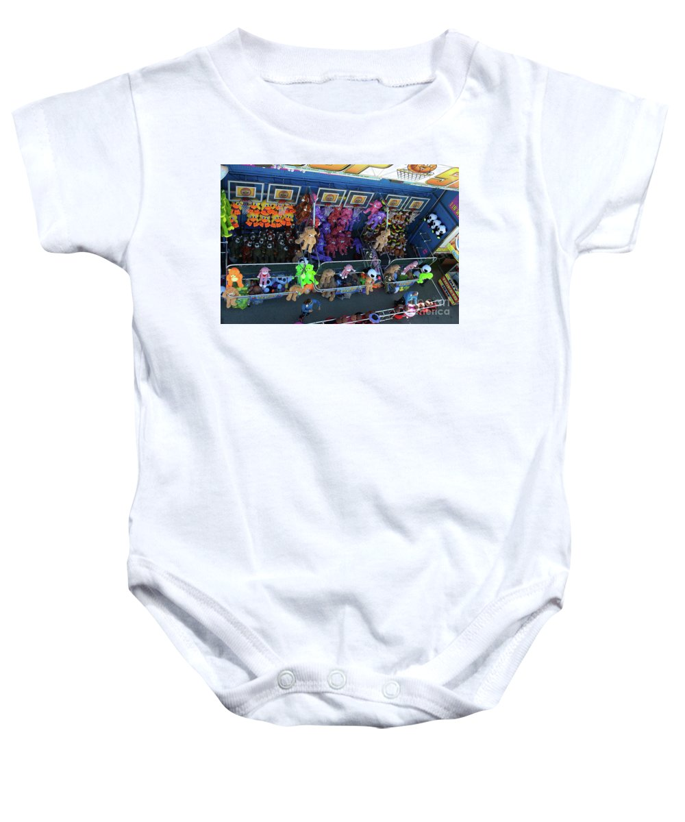 Scenic Tours Baby Onesie featuring the photograph Win A Teddy by Skip Willits