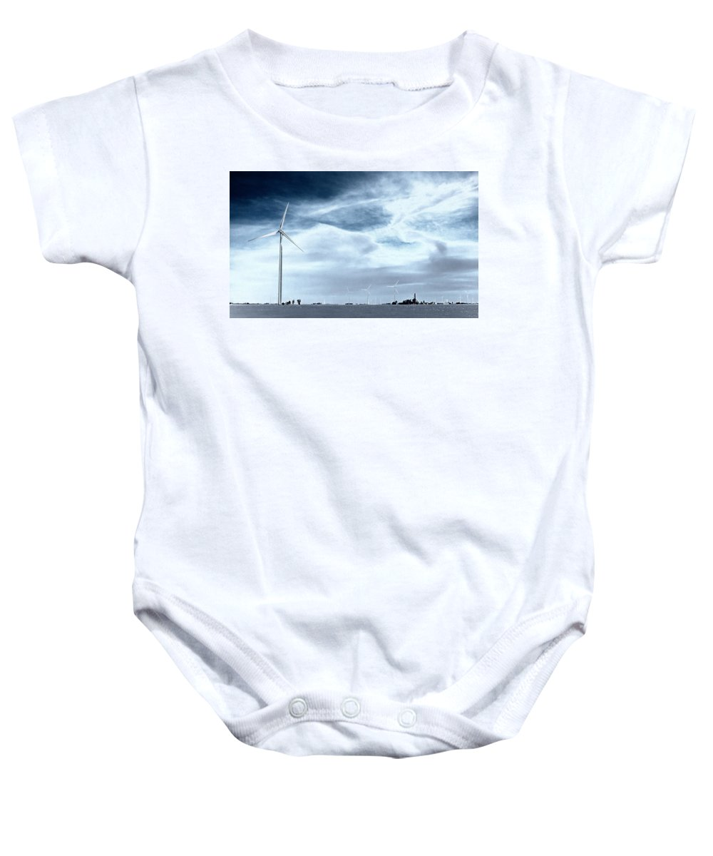 Windmill Baby Onesie featuring the photograph Wind Power by Douglas Neumann