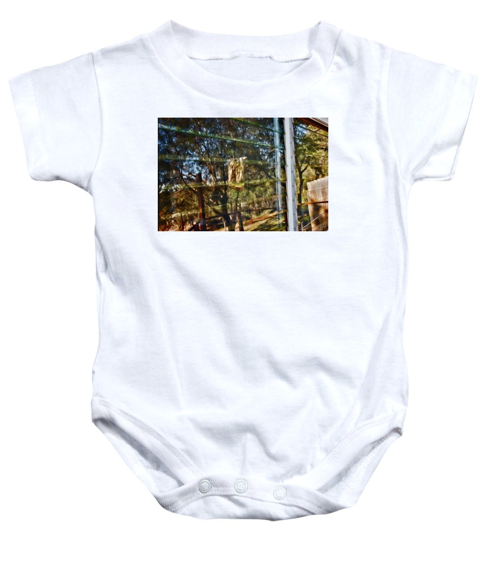 Window Reflection Baby Onesie featuring the photograph Window Reflection by Gina O'Brien