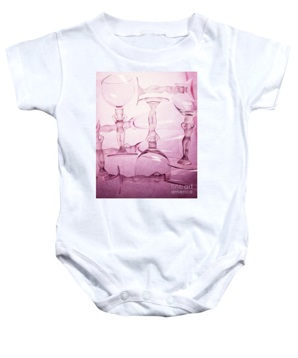 Arty Baby Onesie featuring the photograph Wine Goddesses by Stefania Levi