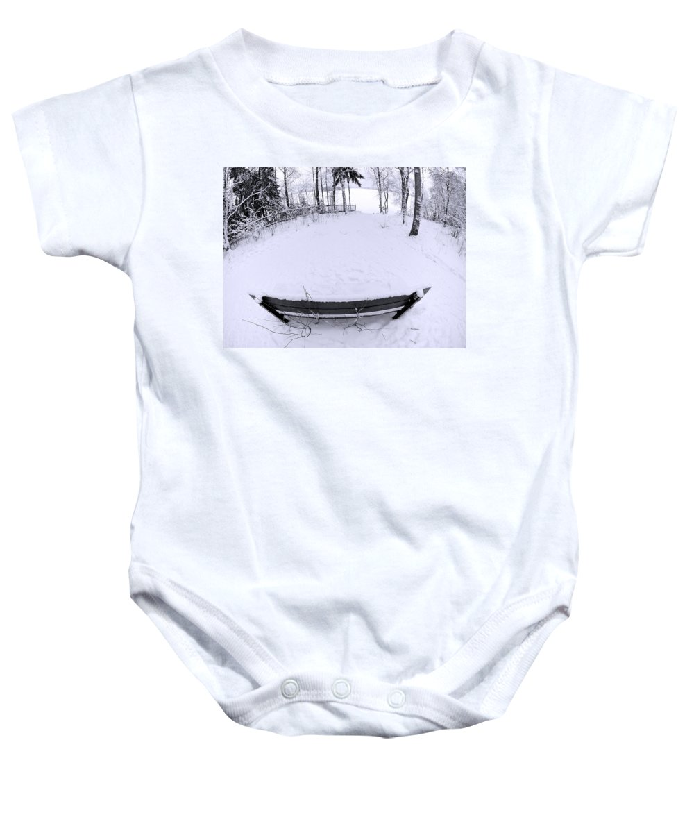 Lehtokukka Baby Onesie featuring the photograph Winter Seat 2 by Jouko Lehto