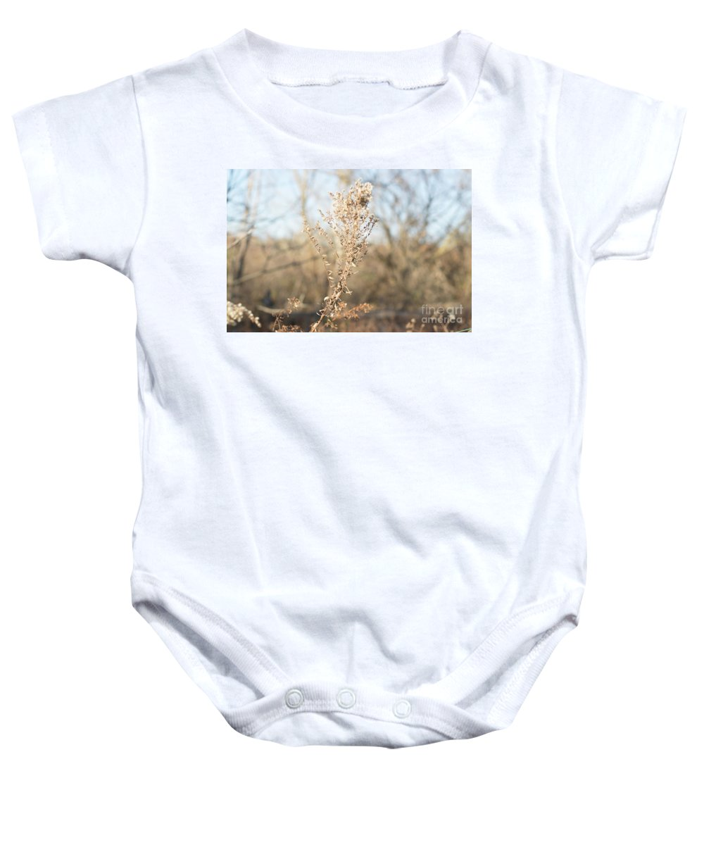 Winter Baby Onesie featuring the photograph Winter Weeds by Howard Roberts