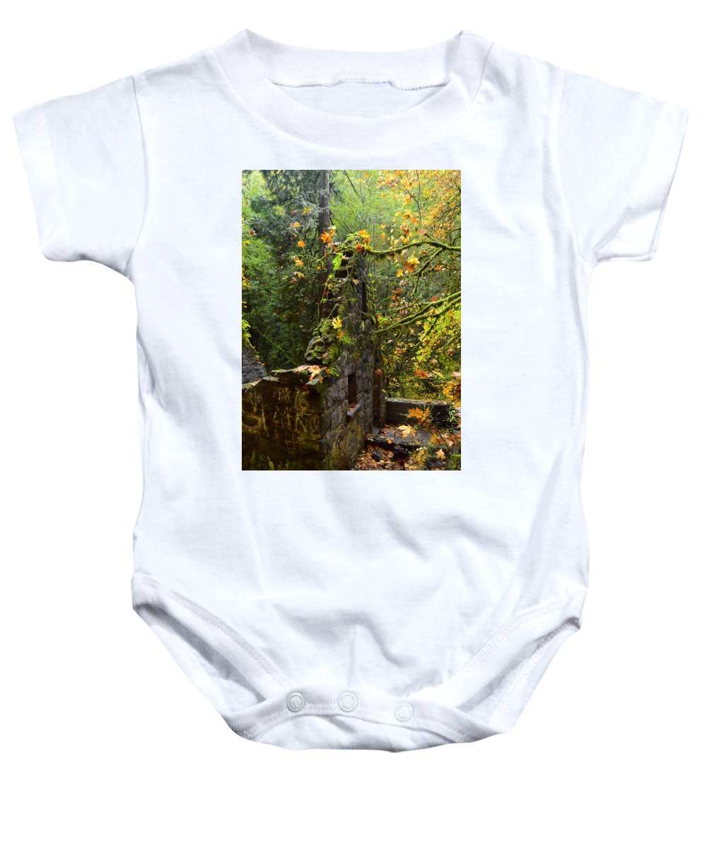 Castle Baby Onesie featuring the photograph Witches Castle by Dora Stratton