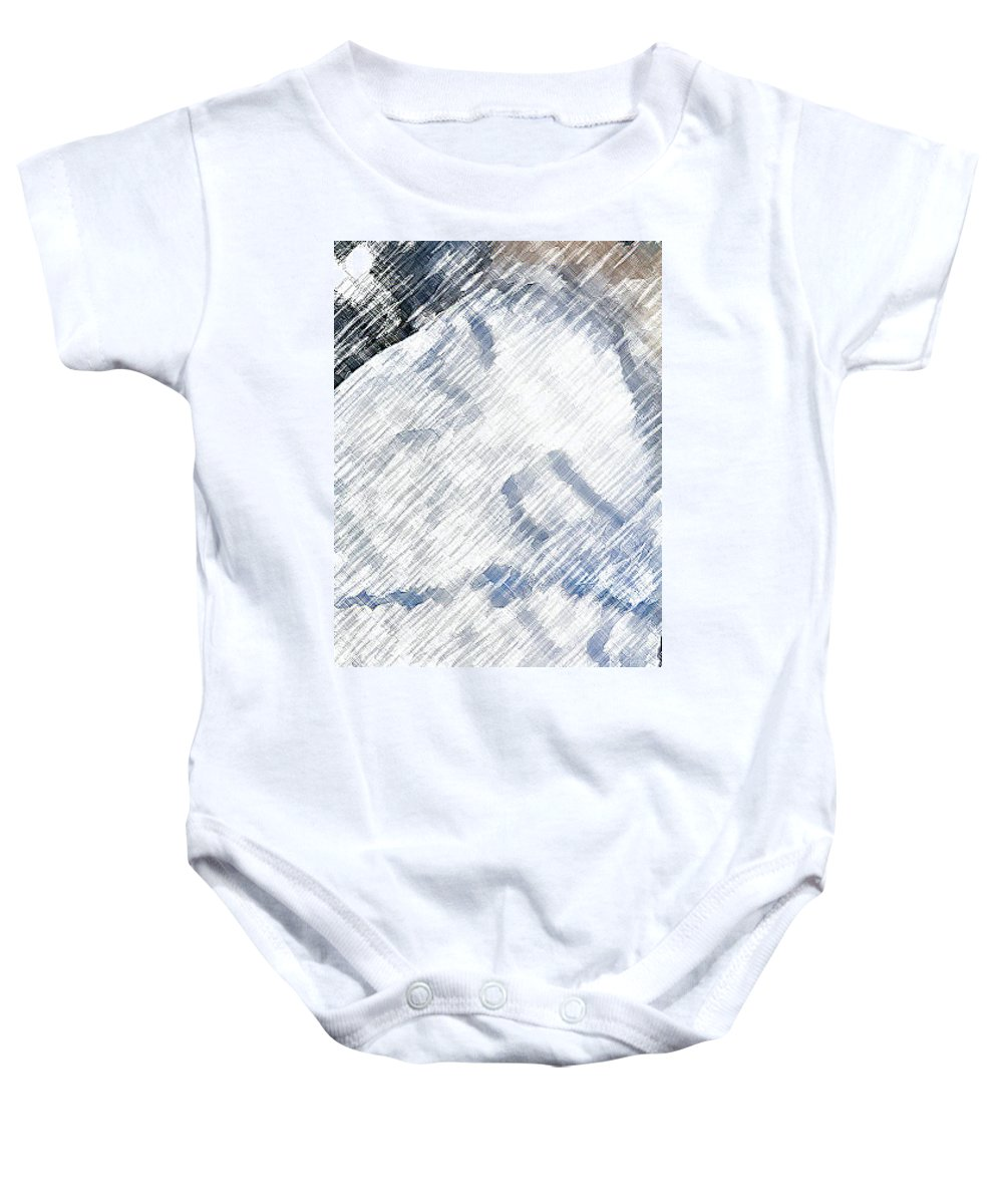 Abstract Baby Onesie featuring the photograph Woman Sleeping by Lenore Senior