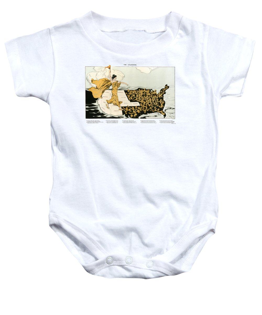 1915 Baby Onesie featuring the photograph Womens Suffrage, 1915 by Granger
