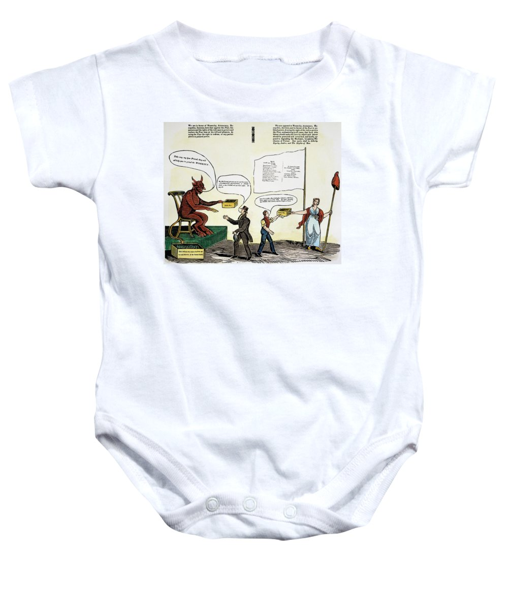 1829 Baby Onesie featuring the photograph Workie Cartoon, 1829 by Granger