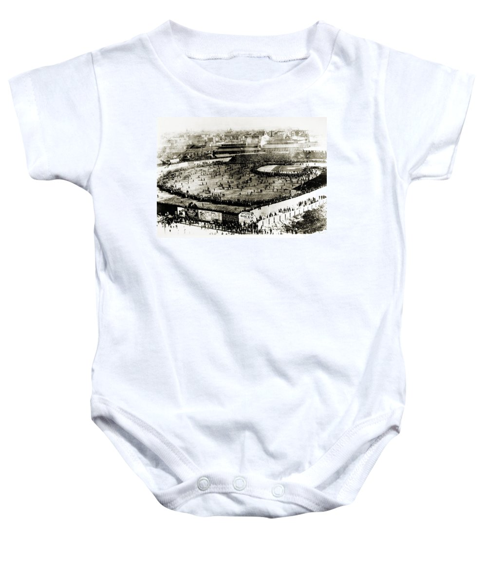 1903 Baby Onesie featuring the photograph World Series, 1903 by Granger