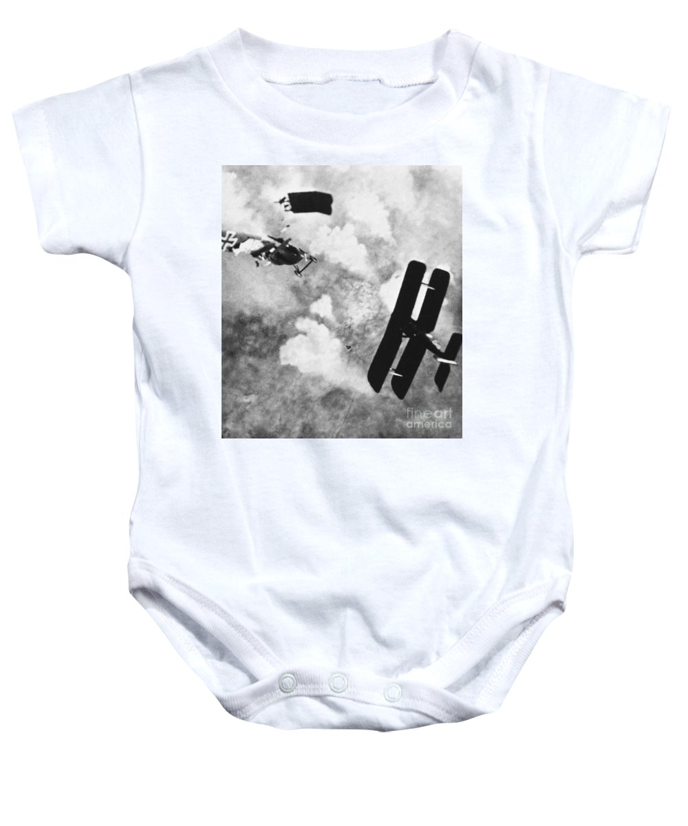 1914 Baby Onesie featuring the photograph World War I: Aerial Combat by Granger