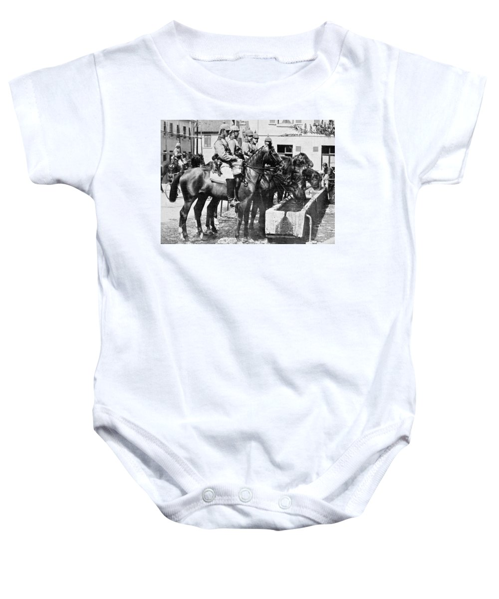 1914 Baby Onesie featuring the photograph World War I: German Army by Granger