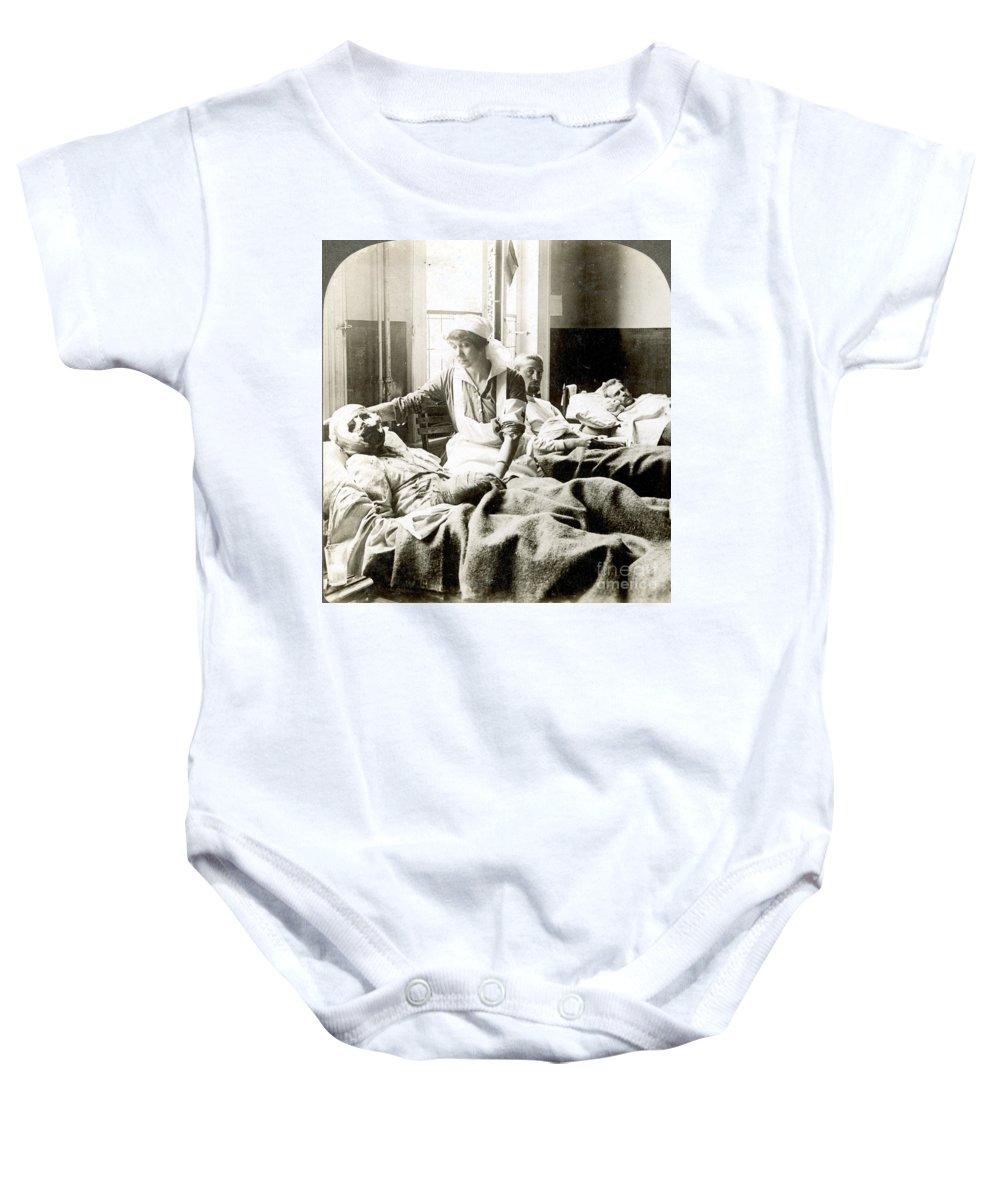 1914 Baby Onesie featuring the photograph World War I: Nurse by Granger