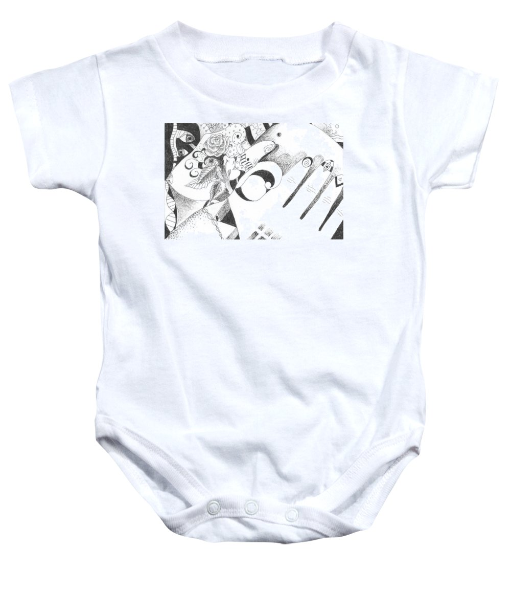Healing Process Baby Onesie featuring the drawing Would You Believe by Helena Tiainen