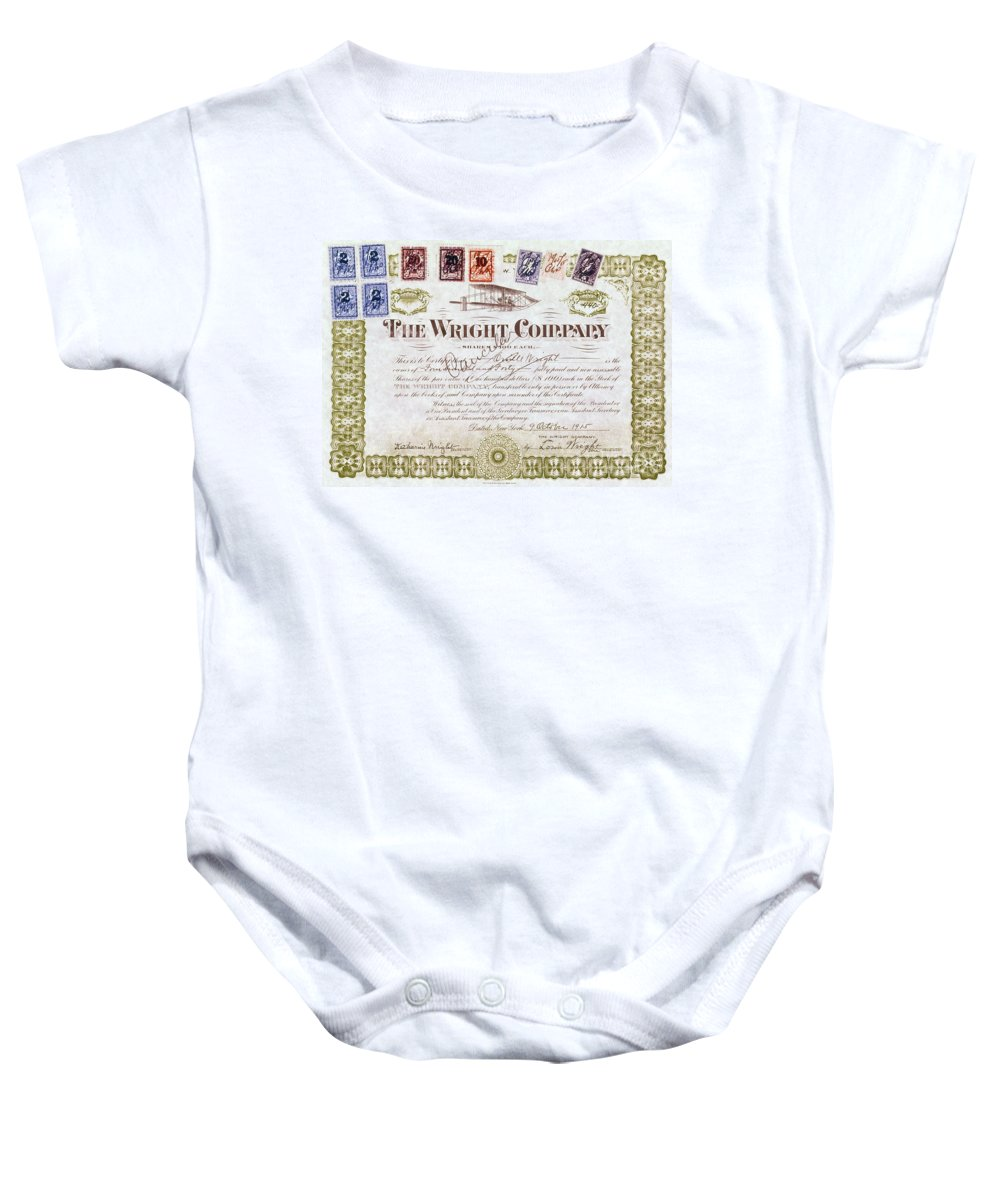 1915 Baby Onesie featuring the photograph Wright Brothers, 1915 by Granger