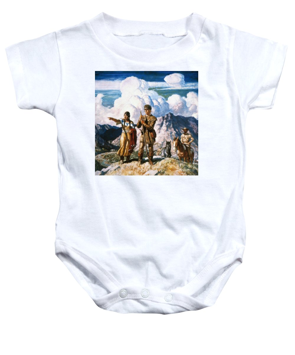19th Century Baby Onesie featuring the painting Wyeth: Sacajawea by Granger