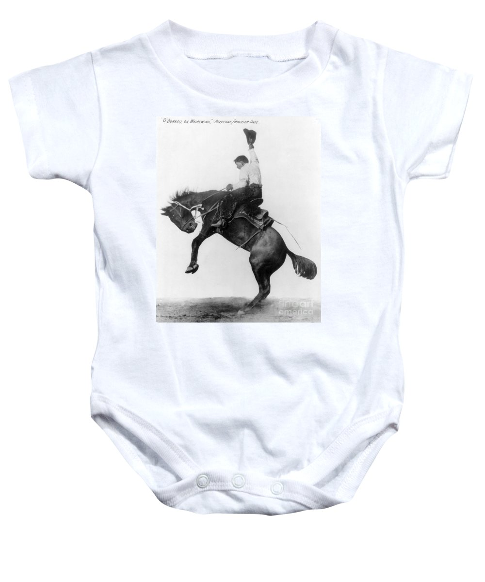 1911 Baby Onesie featuring the photograph Wyoming: Cowboy, C1911 by Granger
