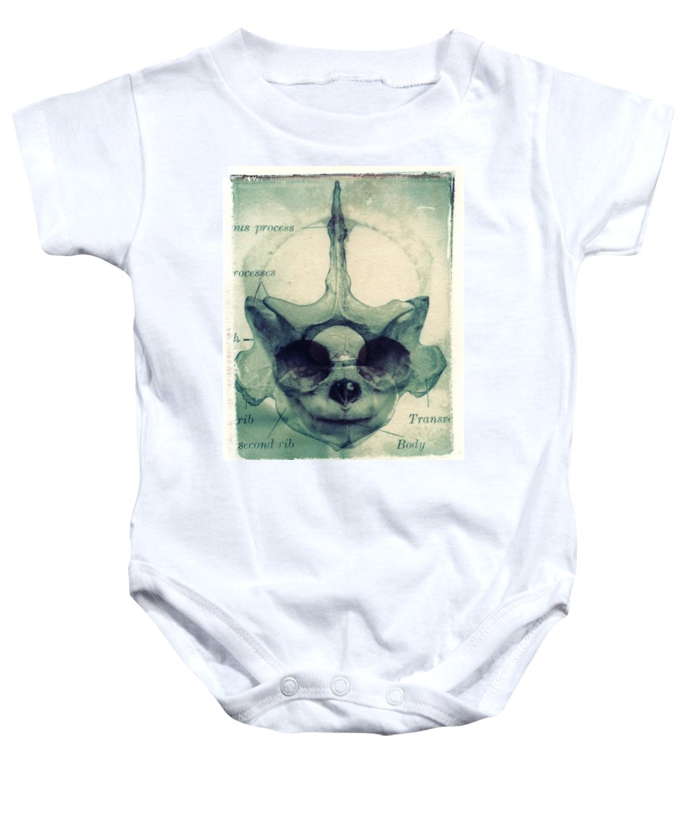 Polaroid Transfer Baby Onesie featuring the photograph X Ray Terrestrial No. 13 by Jane Linders