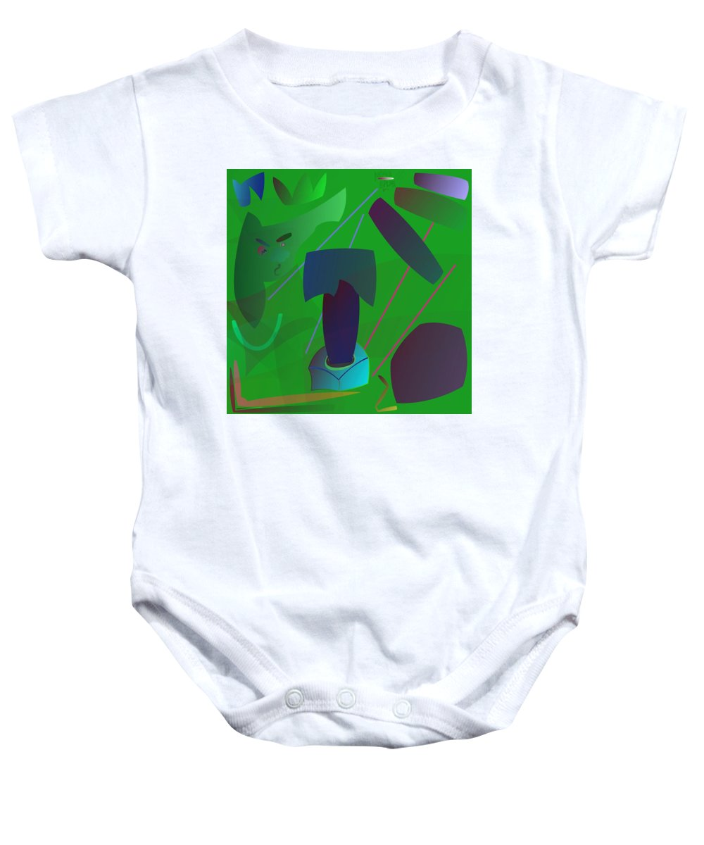 Baby Onesie featuring the digital art Yes Or No by Aminus Bplus
